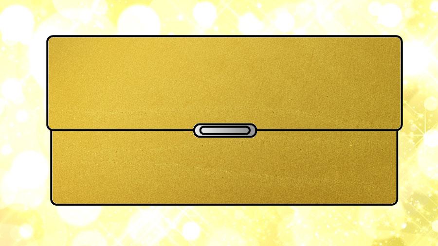 金色(ゴールド)の財布